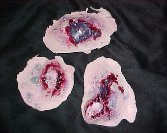 3 Piece Zombie Bites and Trauma Latex Appliances - Raw castings - Ready to paint and wear
