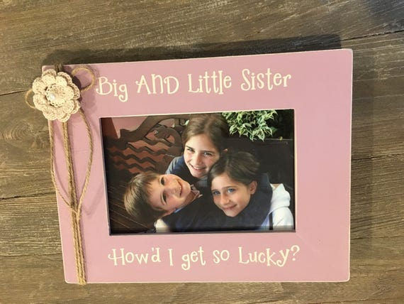 Personalized Picture Photo Frames New Baby, Big Sister, Big Brother ...