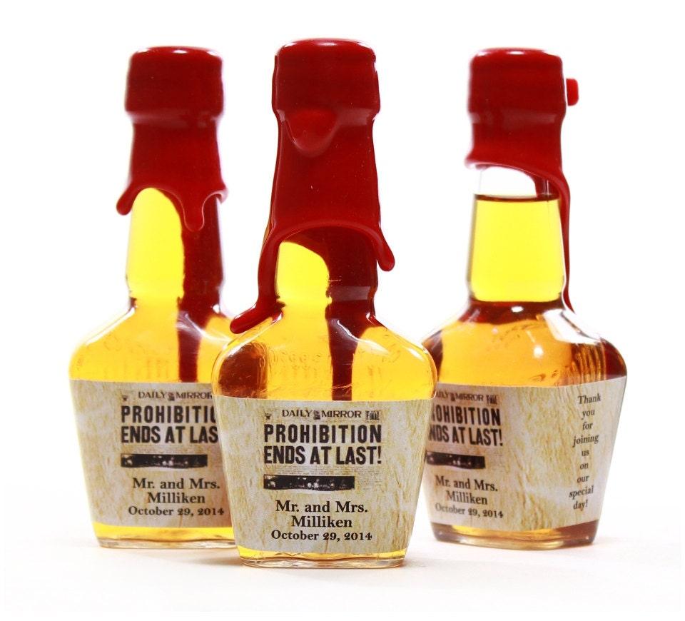 Custom Mini Bottle Labels Wedding Favors Maker S Mark