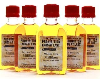 Custom Fireball Mini Liquor Bottle Labels, Prohibition Speakeasy Personalized Labels