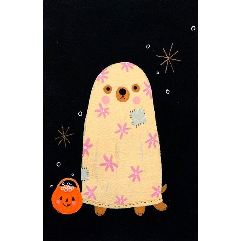 Ghost Pup Print