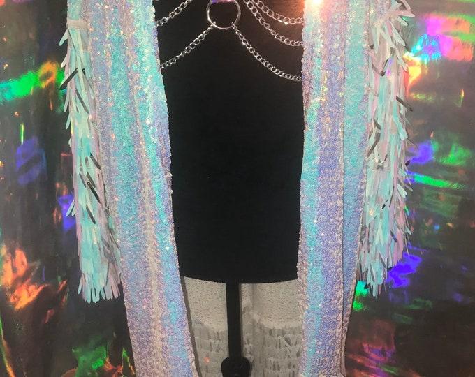 Featured listing image: Sequin Mashup Kimono Jacket