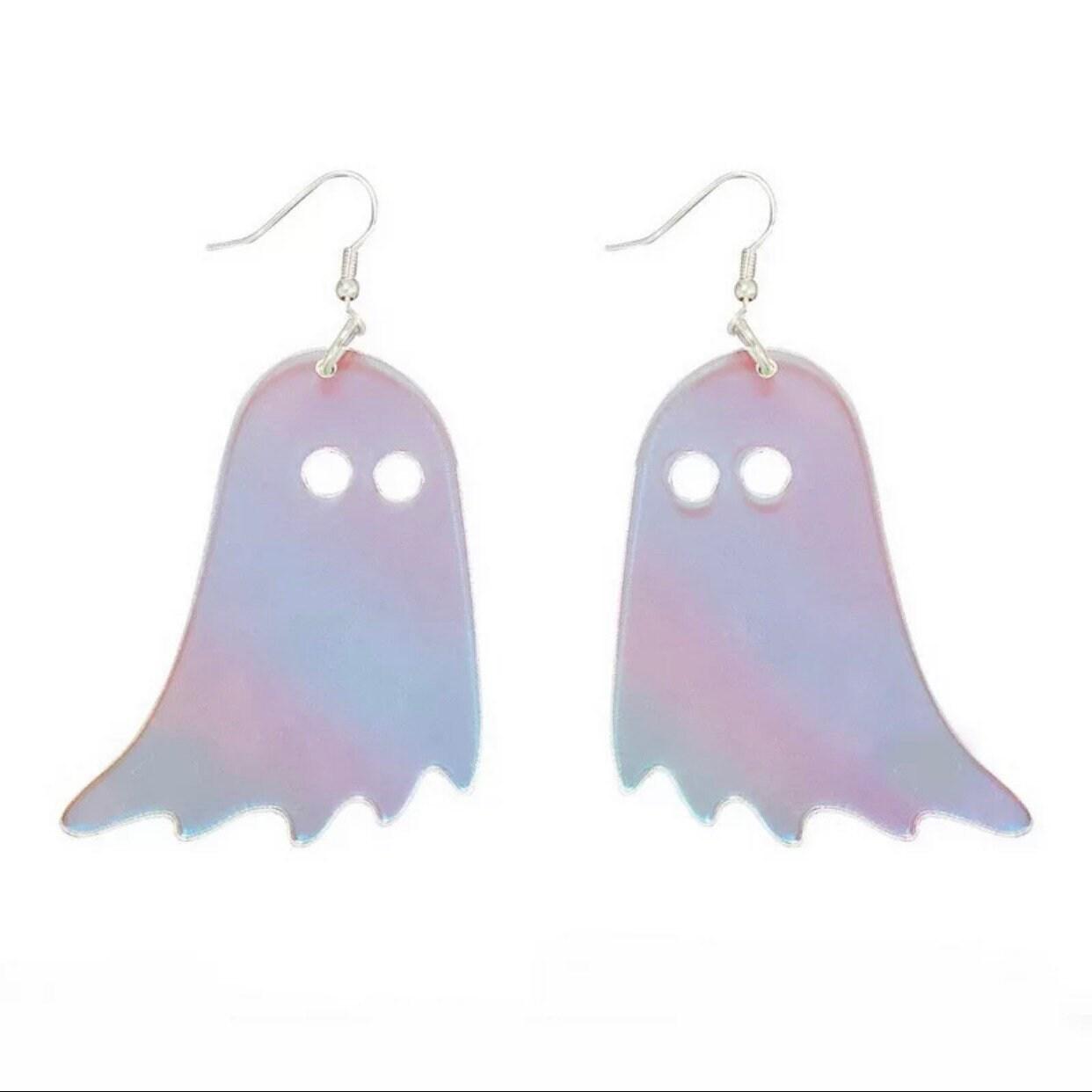 Ghost Glitter Stone Earrings