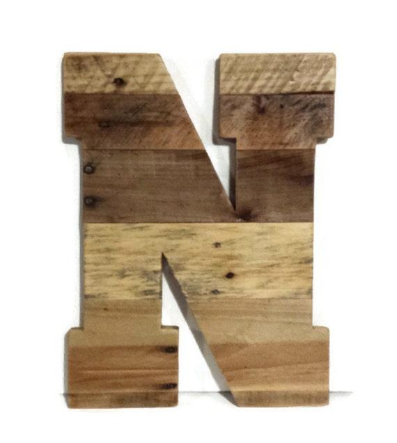 16 letras de madera r stico hogar decoraci n de la - Casa letras madera ...