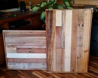 "Reclaimed wood frame, Pallet Frame, 24"" x 36"",  rustic wall art, rustic home decor, pallet sign, single frame, pallet wall art, large frame"