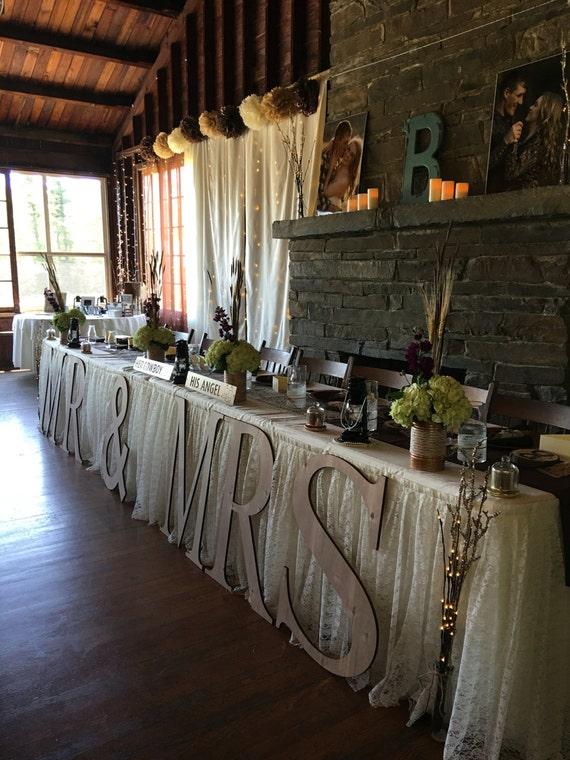 mr mrs wedding decor wood letters large letters wedding etsy