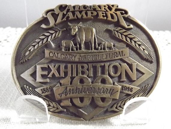 Vintage Calgary Stampede Belt Buckle 1986 100 Year