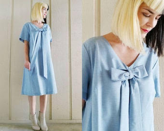 4b2817db4b29e 1950s Blue Babydoll Maternity Dress | Vintage 50s Light Blue Cotton Swing  Dress | Women's Clothing XL Extra Large 1X 2X