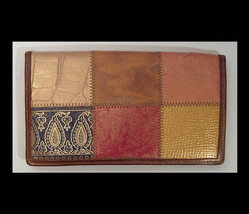 c1ce223da990 Billetera de cuero de retazos de Braccialini Vintage Made in