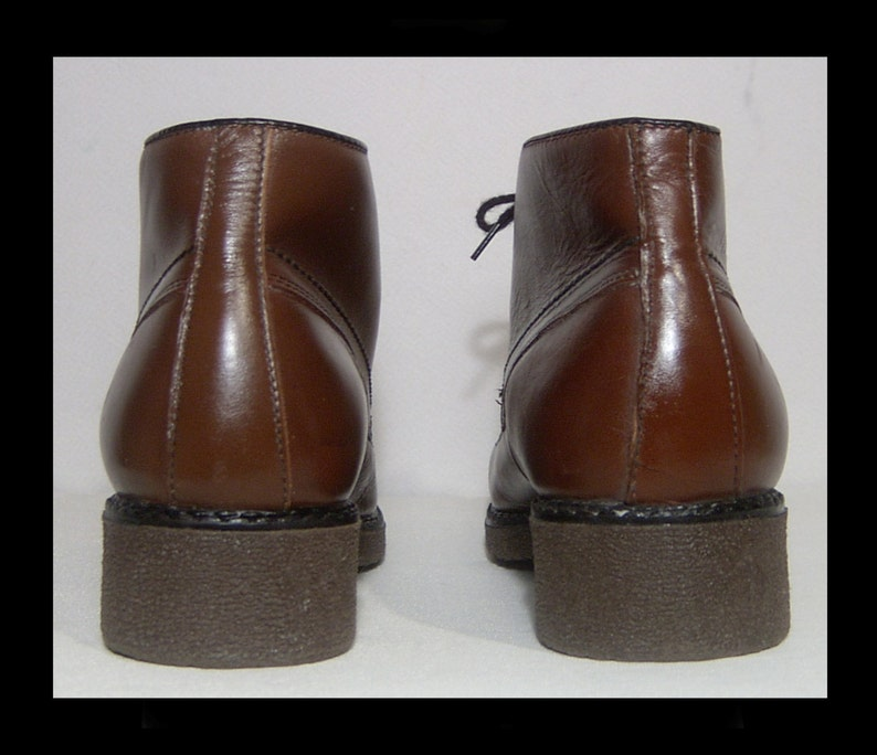 7137dfba5f0d8 Deadstock 1970s 1980s brown leather sherpa boots ~ Men 8 ~ Women 9.5 ~  fluffy snow white wool lined ~ Inouk Made in Canada ~ wide size ~ new