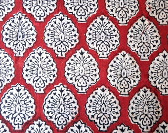 Floral Print Handloom Cotton Fabric Sold by Yard