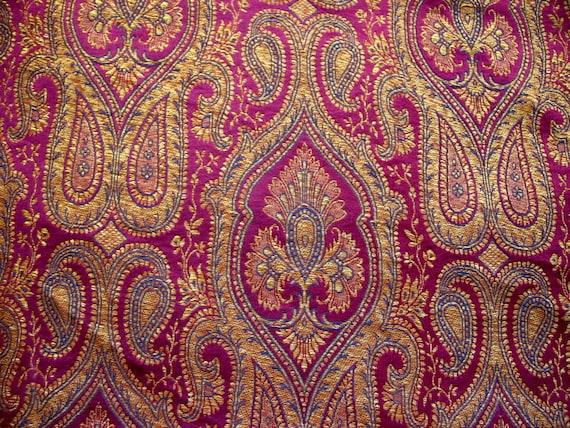 baroque pattern indian benarsi silk brocade kimkhab fabric etsy rh etsy com silk brocade dupatta silk brocade jacket