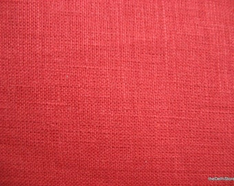 """56""""  Wide Rust Pure Linen Fabric by Yard"""