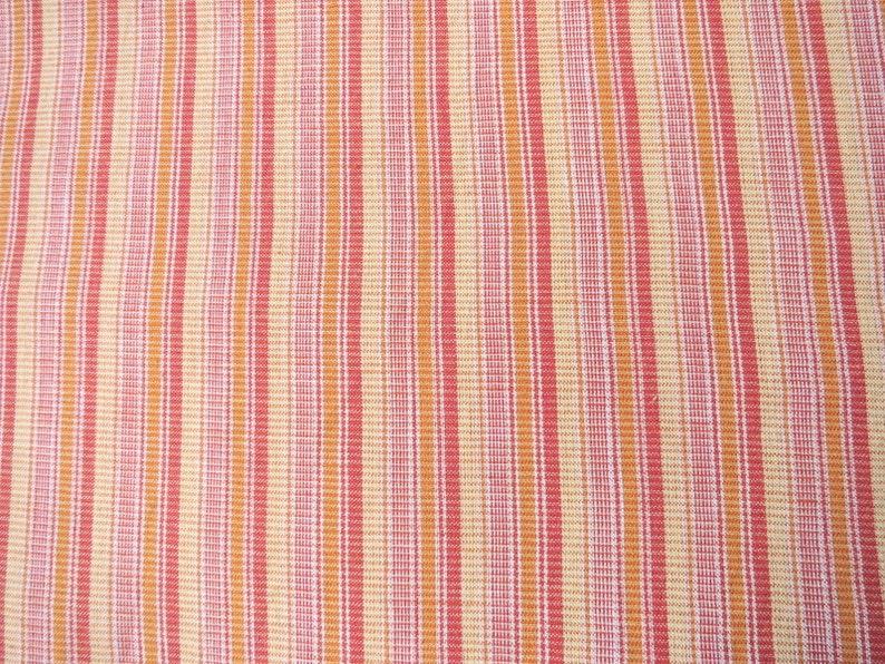 Khadi Fabric Yarn Dyed Striped Cotton Fabric Hand Woven Etsy