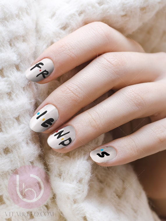 Friend Tv Show Nail Decal Nail Design Nails Press On Nail