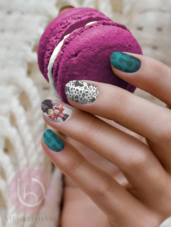 Mad Hatter Nail Decal Nail Design Nails Press On Nail