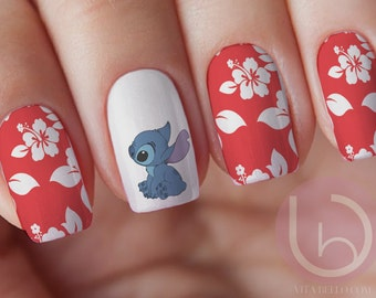 minnie mouse waterslide nail decal nail design nails press