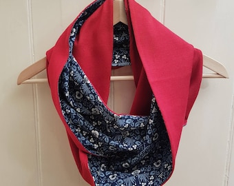 William Morris Silk Cotton Infinity Scarf