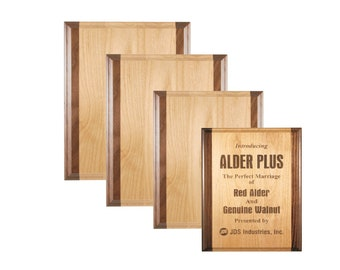 Alder and Walnut Wood Plaque, Awards, Recognition, Employee Appreciation, Wall Decor, Custom Wall Hangings, Personalized Awards, Retirement