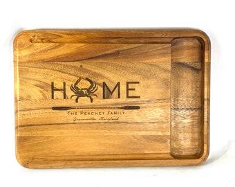 Personalized Big Catch Cutting Board, Custom Engraved Cutting Board, Personalized Wedding Gift, Custom House Warming Gift