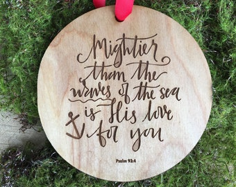 Personalized Gift Ornament: Teacher Appreciation Gift, Mother's Day Gift, Father's Day Gift, Bereavement Gift, Wooden Engraved Ornament