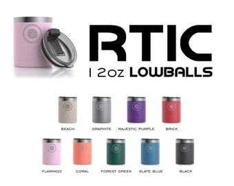 12oz Custom Engraved RTIC Lowball Tumbler, Vacuum Sealed Tumblers, Personalized Whisky Glass, Engraved RTIC Lowballs