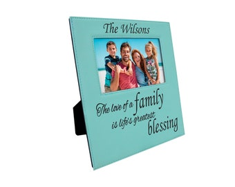 Classic Engraved Picture Frame, Father's Day Gifts, Mother's Day Gifts, Personalized Picture Frame, Customized Picture Frame Leatherette