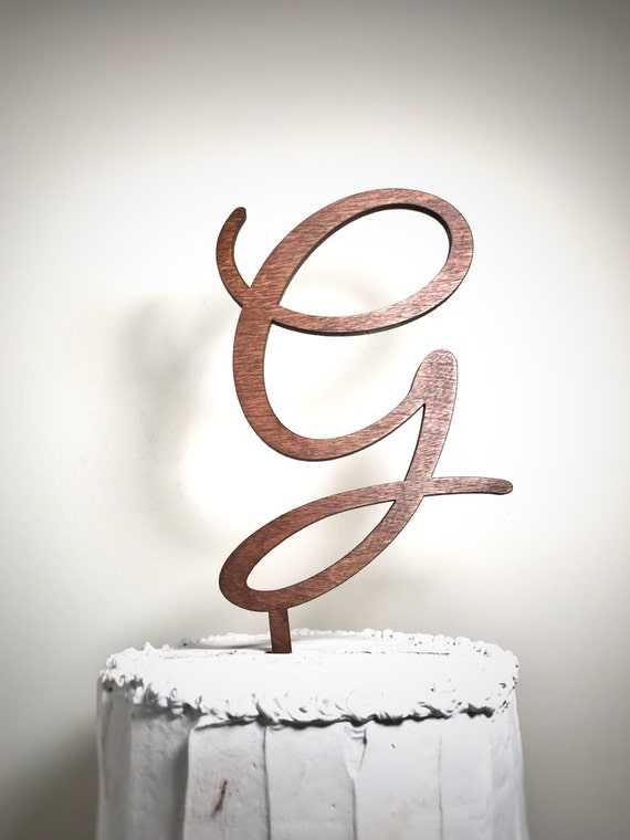 wedding cake topper letter g wooden wedding cake topper letter g monogram cake topper 26348