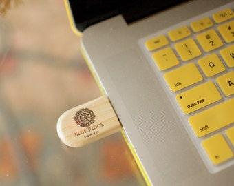 1 Personalized 8GB USB Drive, Engraved Zip Drive, Custom Thumb Drives, Wooden USB Drives, Bamboo Zip Drives