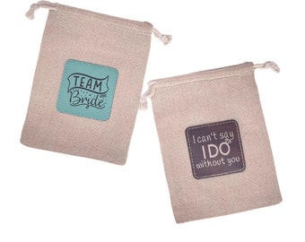 Custom favor bags, custom Iron-on Leatherette Patch, Engraved Patch, Engraved Tag, party favors, wedding favor, custom wedding, custom party