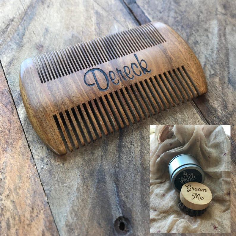 Custom Engraved Sandal Wood Beard Comb, Wooden Beard Comb, Personalized  Beard Comb, Men's Gifts, Customized Beard Grooming Comb