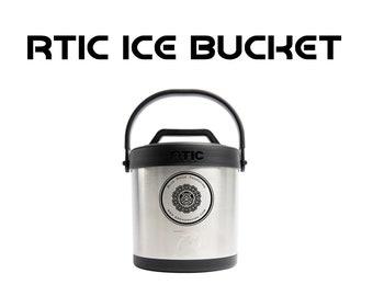 Custom Engraved RTIC Ice Bucket, Vacuum Sealed Ice Bin, Ice Carrier, Personalized Ice Bucket