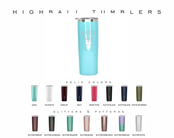 Brumate 12oz Highball Rocks Tumbler, Double Wall Insulated High Ball Tumbler, Engraved Tall Tumbler, Personalized Easy to Hold Tumbler