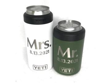 Custom Engraved YETI Colsters, 12oz, 12oz Slim, 16oz, Vacuum Sealed Bottle Chiller, Personalized Can Holder, Engraved YETI Colster, Koosie