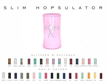Brumate 12oz Slim Hopsulator, Double Wall Insulated Can Holder, Engraved Colster, Personalized Bottle Holder, Customized Beverage Holder