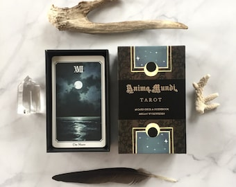 Anima Mundi tarot deck, 78 card deck with guide book, nature deck, occult divination card sold by original artist
