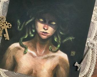 Medusa fine art print, Greek mythology,
