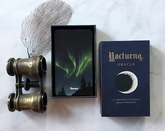 Nocturna Oracle deck, 48 card deck with guidebook, night, moon, dark nature based divination deck