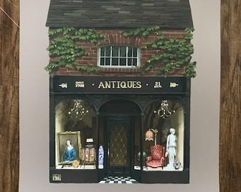 """11x14 """"The Antique Shop"""" fine art print"""