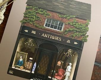 """8x10 """"The Antique Shop"""" fine art print"""