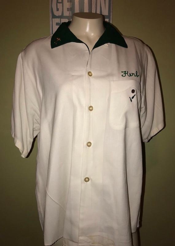 Vintage Bowling Shirt, Size Large