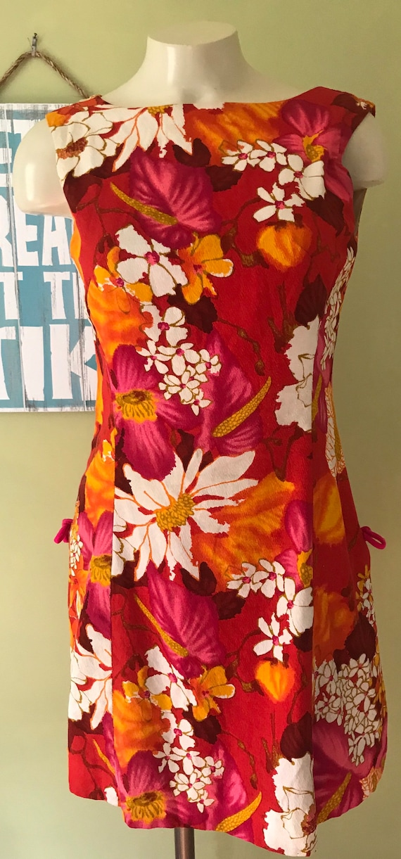 Vintage Hawaiian Scooter Dress, Size Small