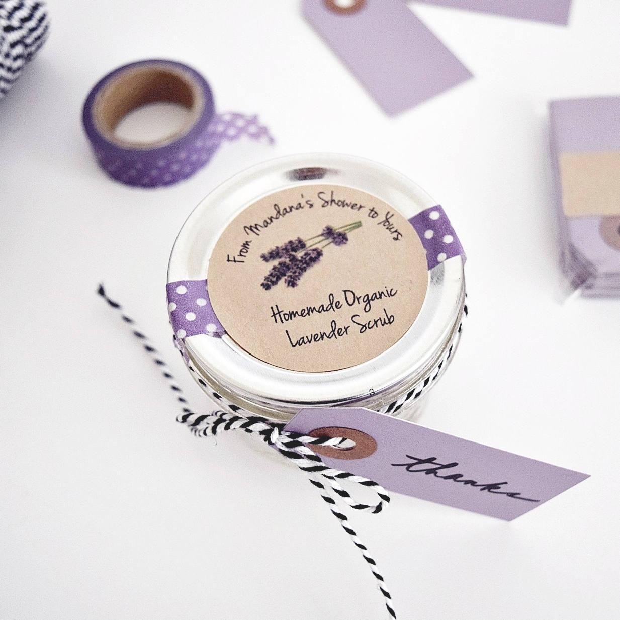 Lavender Sugar Scrub Favor Labels. Bath & Body Product Labels ...