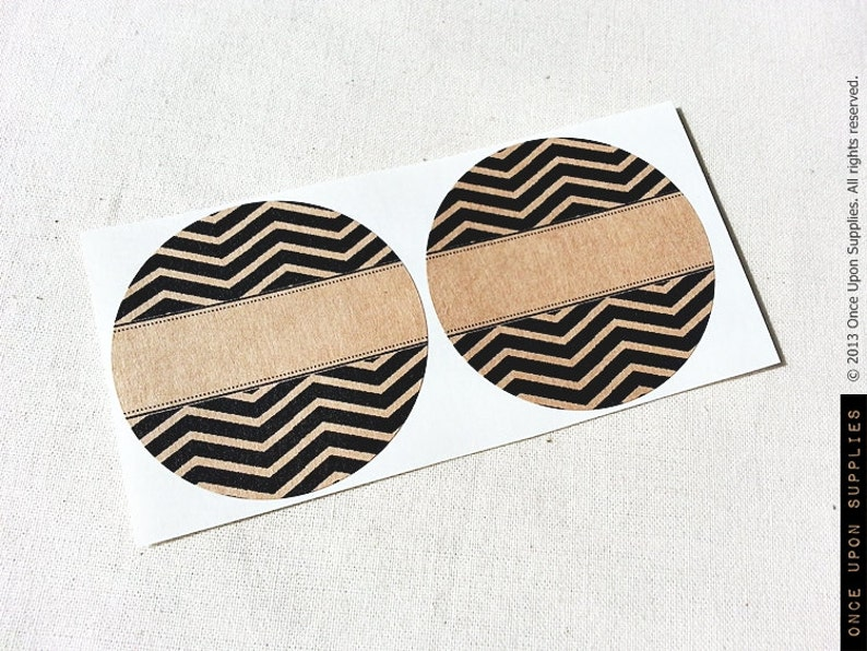 Canning Supplies Fits Regular or Wide Mouth Lids Round Stickers for Mason Jars Kitchen Pantry Labels with Rustic Chevron Stripes Pattern