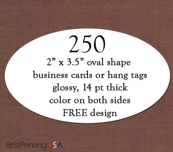 Items similar to 250 oval shape business cards or postcards 4x6 items similar to 250 oval shape business cards or postcards 4x6 thick glossy color on both sides free design free shipping on etsy colourmoves