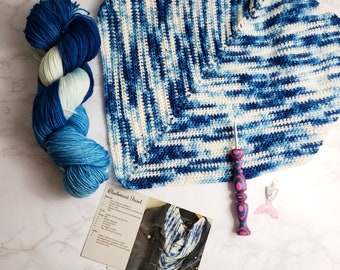 Bluebonnet Shawl Crochet Kit