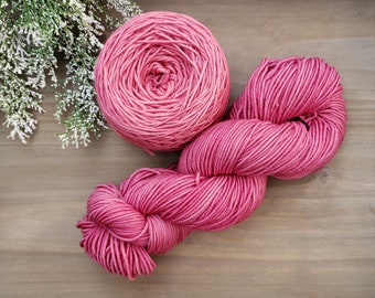 Blush Pink Hand Dyed Yarn