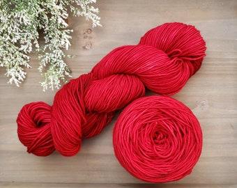 Scarlet Hand Dyed Yarn