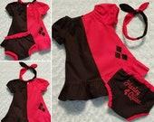 Harley Quinn Peasant Dress Outfit.