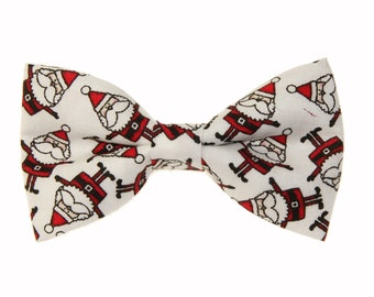 Toddler Boy 4T 5T Red//Green Mini Holiday Trees Clip On Cotton Bow Tie Bowtie
